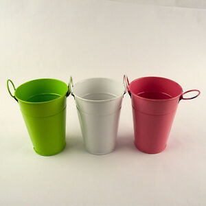 Decorative Coloured Mini Steel Buckets for Candy Trees Favours Planting
