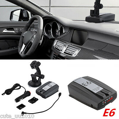 E6 Cobra Full Band Car Radar Detector Laser Speed Alert With English Police Dog