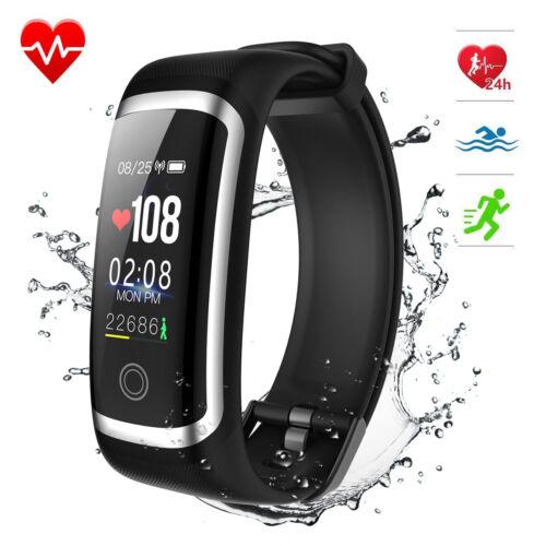 Bluetooth Smartwatch Wasserdicht IP67 Uhr mit Pulsmesser Fitness Tracker Armband