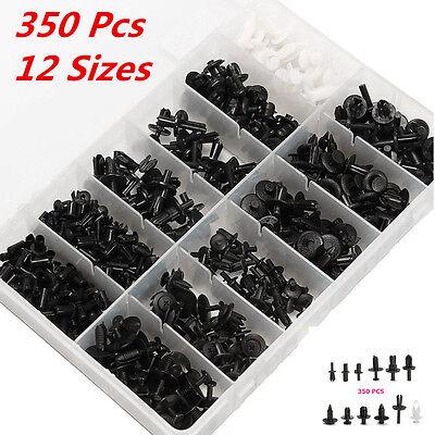 Platstic 350pcs 12 Sizes Car Push Pin Rivet Trim Clip Panel Moulding Assortments