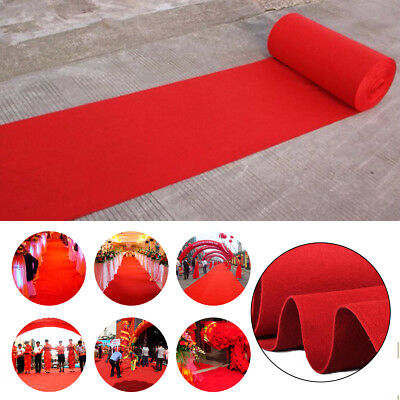 40ft Celebrity Red Carpet Floor Runner Mats Rugs Hollywood Wedding Party - Hollywood Balloons