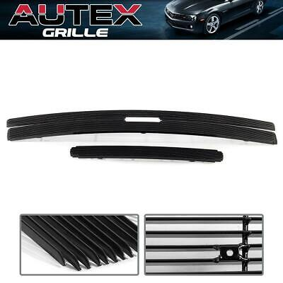 Grill Insert Black Billet Grille Combo For 11-2014 Chevy Silverado 2500HD/3500HD