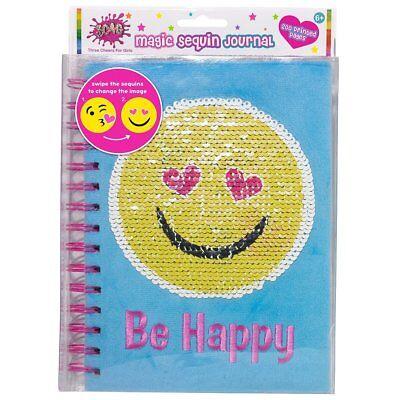 Three Cheers for Girls Emoji Magic Sequin Journal - Journals For Girls