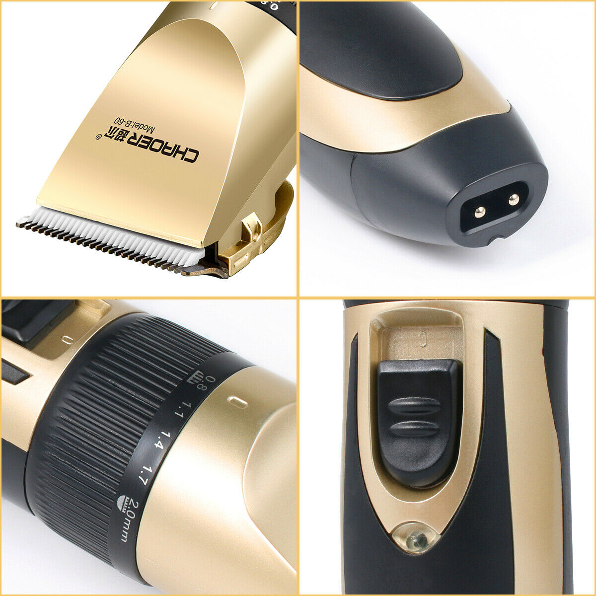 Rechargeable Men Hair Clippers Professional Cordless Trimmers Barber Haircut kit 1