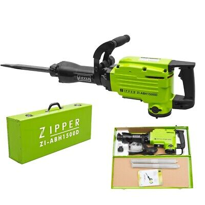 Zipper Abbruchhammer ABH1500D Meiselhammer Stemmhammer mit Meiselset im Koffer