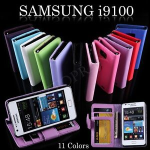 Credit Card Wallet Flip Stand Leather Case Cover For Samsung Galaxy S2 i9100 SII