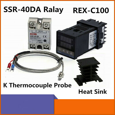 40da Digital Pid Rex-c100 Temperature Controller Ssr Relay K Thermocouple