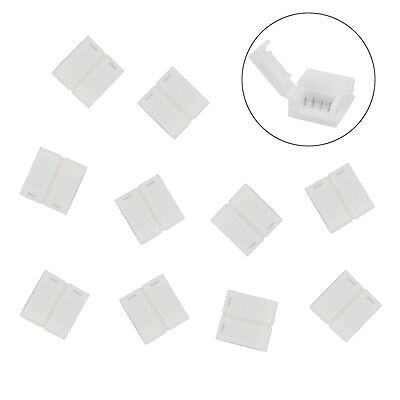 10 X Waterproof LED Strip Light Connectors 10mm 4 pin for 5050 3528 RGB Strips