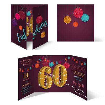 g individuelle Einladungskarten Einladungen - Girlande (Individuelle Einladungen)
