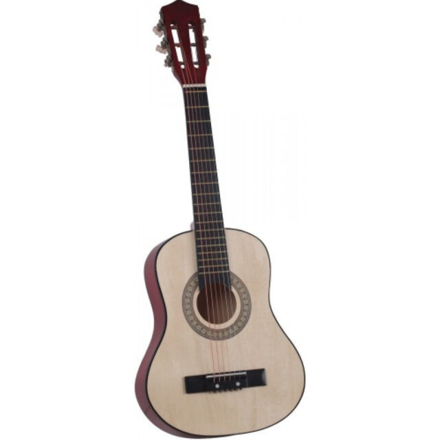 Kindergitarre 75cm aus Holz Gitarre stimmbar 6 Saiten + Anleitung Holzgitarre