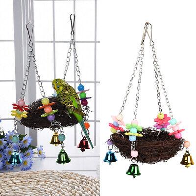 Parrot Bird Swing Hanging Chew Toy Parakeet Budgie Cockatiel Nest Hammock -