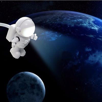 Popualr Flexible Astronaut LED USB Night Light Mini Lamp for Laptop Reading TNUK
