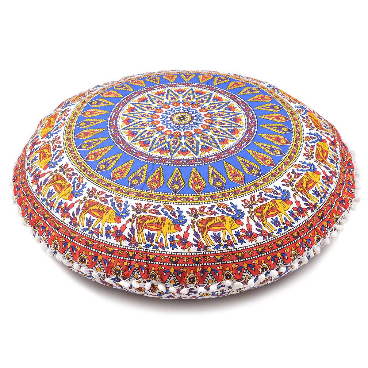 Floor Round Cushion Cover Mandala Throw Bohemian Pillow Pill