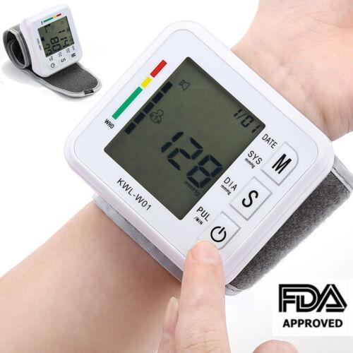 Automatic Digital Wrist Blood Pressure Monitor BP Cuff Machine Home Test Device