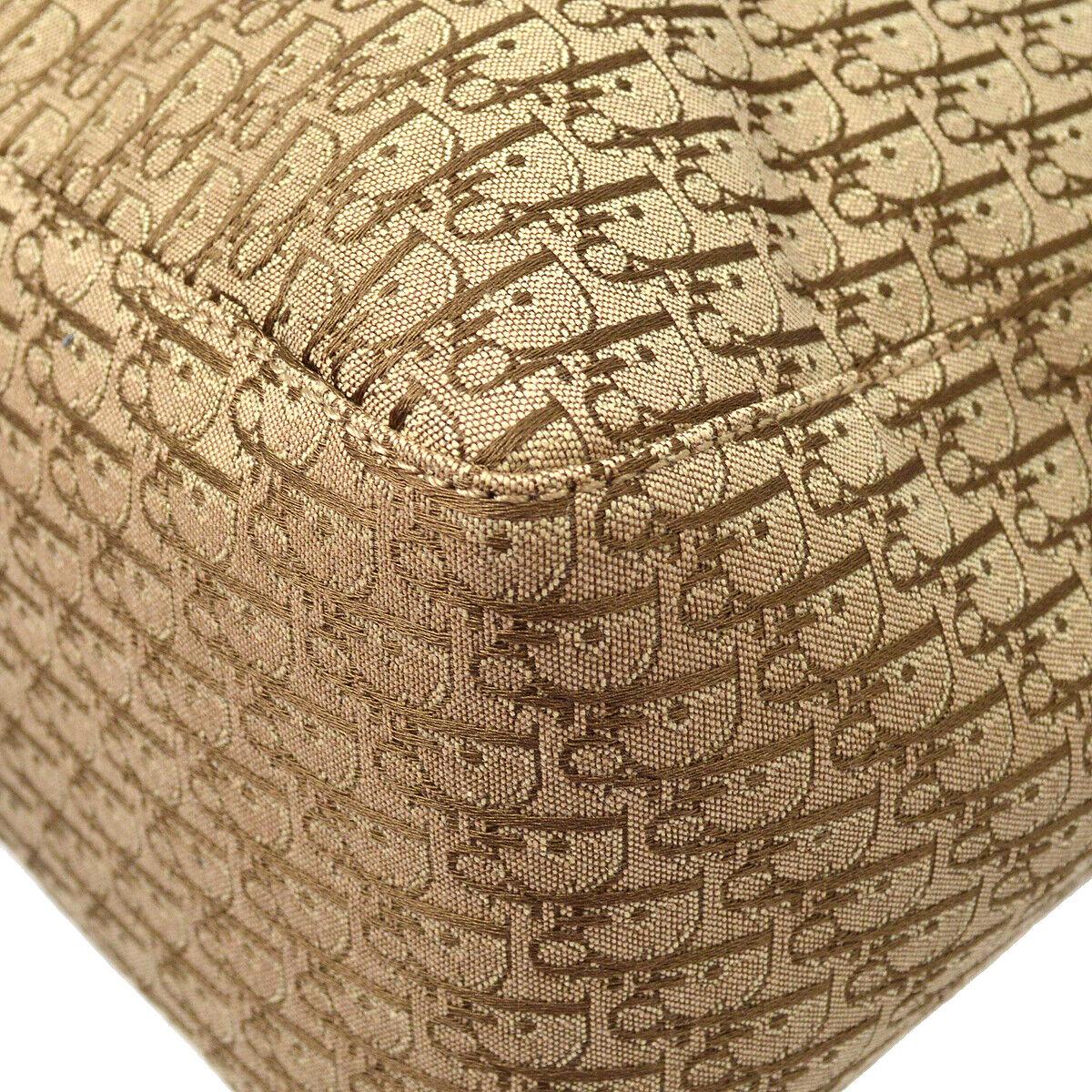 Christian dior trotter motif main tote bag sac beige toile bol0093 40786