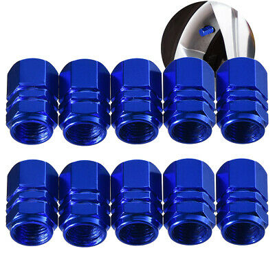 10 Pack Auto Tire Cap Tire Stem Valve Caps Wheel Valve Covers Blue - Leaking Valve Stem
