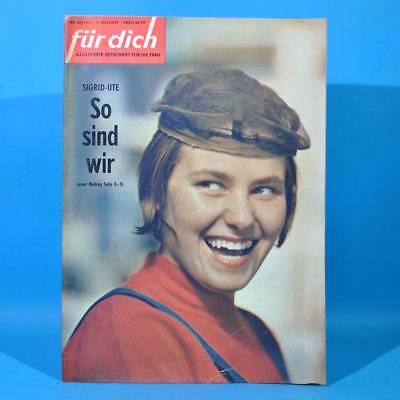 DDR FÜR DICH 20 1964 Waggonbau Halle Friedensfahrt Friedland Marinestil DEFA B