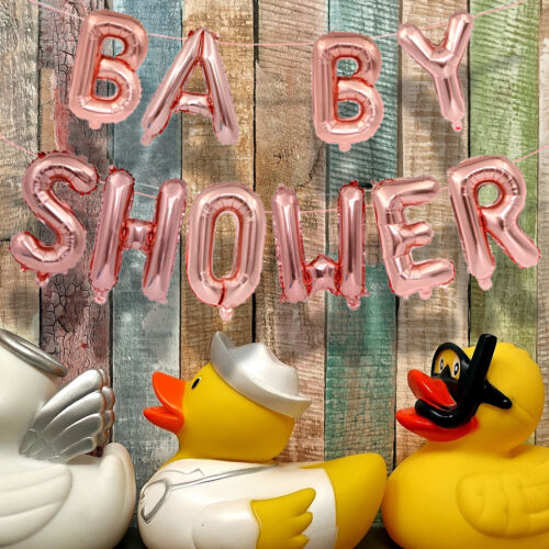 """Baby Shower Oh Baby 16"""" Foil Letter Balloon Party Banner +St"""