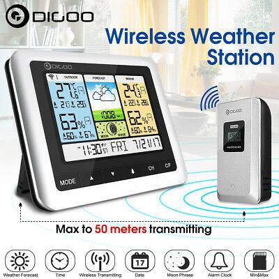Digoo TH8888Pro LCD Wireless Weather Station USB Outdoor Forecast Sensor Clock