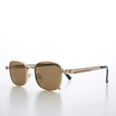 Tailored Rose Gold Sunglasses with Industrial Temples and Brown Lens (Tyga Sunglasses)