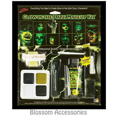A908 Family Halloween Glow in the Dark Face Paint Make Up Costume Kit Makeup - Face In A Face Halloween Makeup