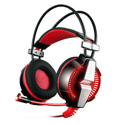 EACH GS700 Stereo Gaming Headset Headphone for PS4 New Xbox One PC with Mic Red