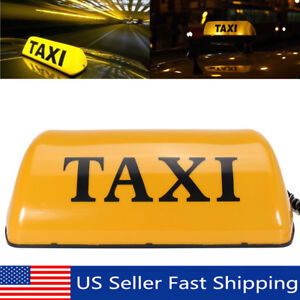 11'' Waterproof 12V Taxi Cab Sign Roof Top Topper Car Magnetic Lamp LED Light