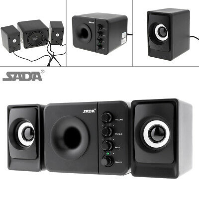Portable USB2.0 Subwoofer Computer Speaker with 3.5mm Audio Plug for PC/MP3