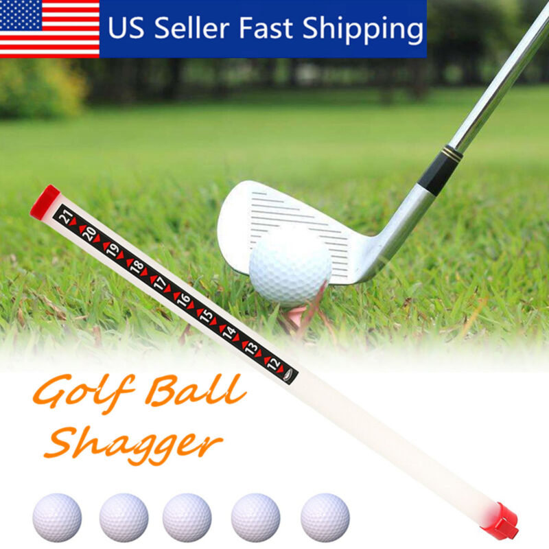 Golf Ball Shag Tube Portable 21 Balls Picker Practice Shagger Pick Up Storage