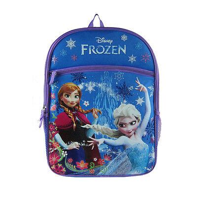 "Disney Frozen Princess Elsa & Anna 16"" Backpack with 1 Large"
