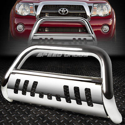 FOR 05-15 TOYOTA TACOMA TRUCK 2WD/4WD CHROME BULL BAR PUSH BUMPER GRILLE GUARD 2wd Chrome Grille