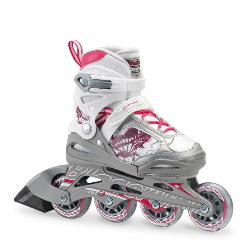 Rollerblade Bladerunner Phoenix Girls Adjustable Skates, Medium (Open Box)