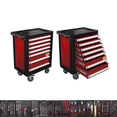 NEU - Werkzeugwagen mit 7 Schubladen inkl. Werkzeug Werkstattwagen komplett