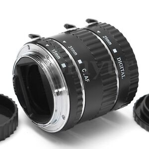 Macro Extension Tube Ring Auto Focus AF for Canon EOS Camera EF EF-S Lens DC732