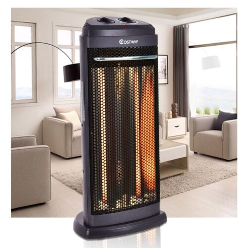 Home Heating Radiant Fire Tower Infrared Electric Quartz Heater Office Equipment