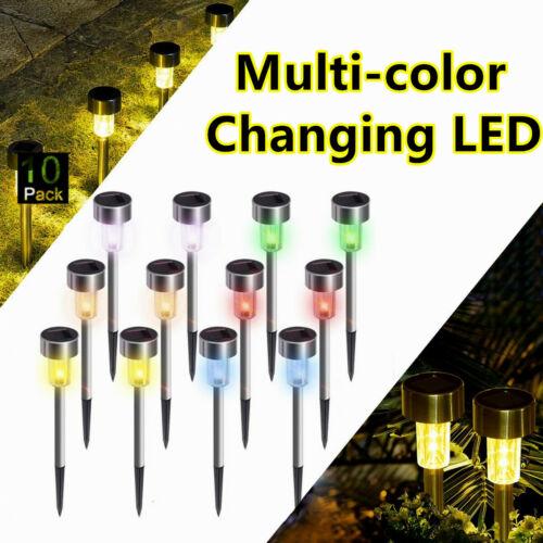 US Color-Changing Solar Lights Outdoor Garden LED Light Landscape/Pathway Lights Home & Garden