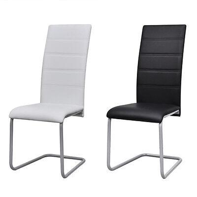 2/4/6 x Freischwinger Schwingstuhl Esszimmerstuhl Sitzgruppe Hochlehner Stühle