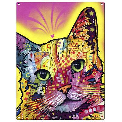 Tilt Cat Dean Russo Pop Art Sign Pet Steel Wall Decor 12 x 16