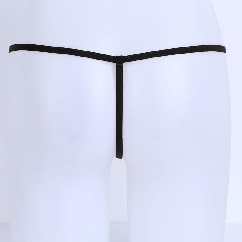 Damen Fischnetz Micro Mini Strings Slips Transparent G-String Tanga Unterwäsche