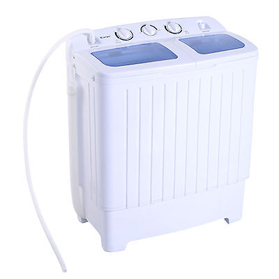 Carriable Mini Compact Twin Tub 11lb Washing Machine Washer Spin Dryer