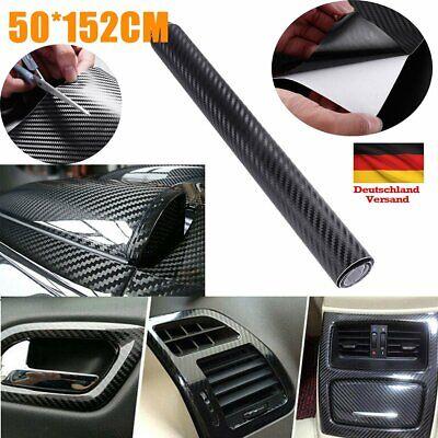 Carbon Folie 5D selbstklebend Car Wrapping Folie Autosticker Schwarz 152 x 50cm