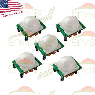5 Pcs Hc-sr501 Pir Ir Passive Infrared Motion Detector Sensor Module Diy