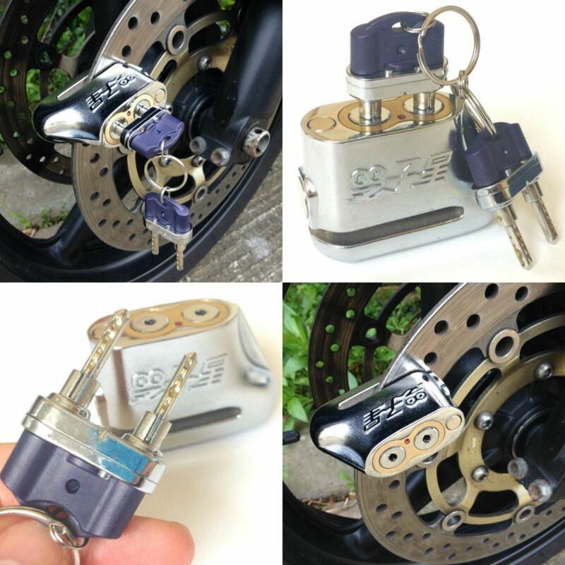 Universal Lock Dual Key Anti Theft Disc Brake Motorbike Motorcycle Scooter Moped