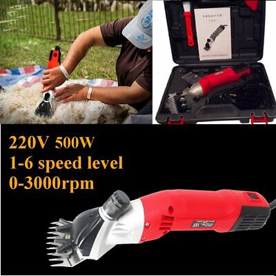 600w Electric Sheep Goat Shears Animal Shearing Grooming Clippers Farm Supplies