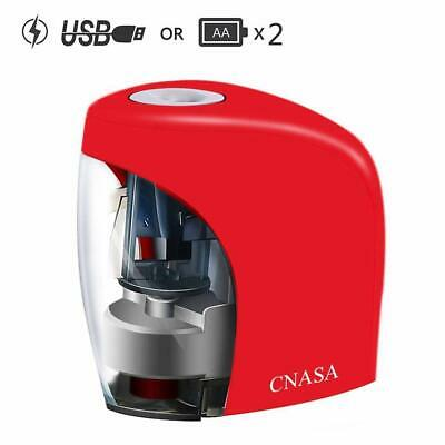 Electric Pencil Sharpener Automatic Battery Operated Powered Usb Office Desktop