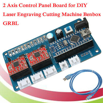 2 Axis Stepper Motor Control Board Driver For Diy Laser Engraver Benbox Grbl