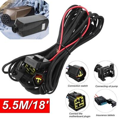 HCalory Split diesel Air Heater Wiring Loom Power Supply Cable Adapter