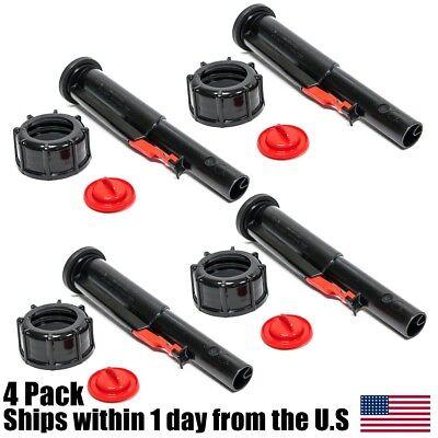 4pk Midwest Gas Can Screw Cap Collar Stopper Black Vent Spout Kit