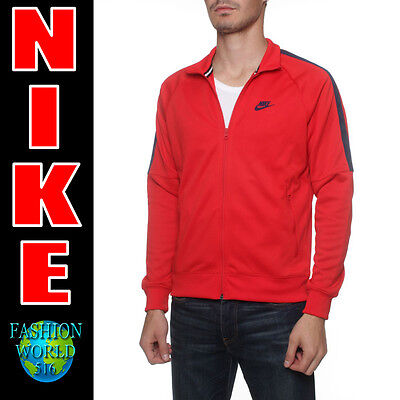 Nike Mens Size 2XL Tribute Full Zip Hooded Track Jacket XXL 839616 Red/Navy Blue