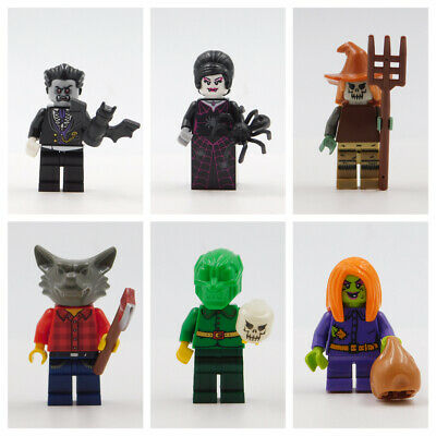 LEGO HALLOWEEN MINIFIGURES GOBLIN WOLF SCARECROW VAMPIRE SPIDER TRICK OR TREAT